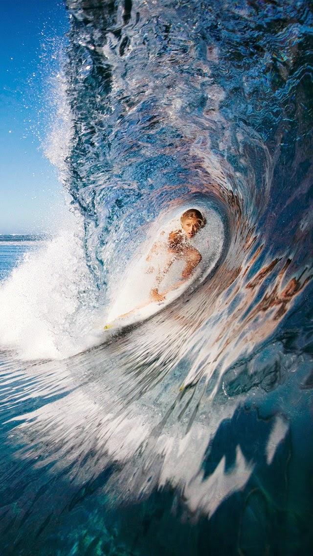 خلفيات ايفون امواج البحر