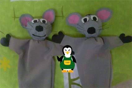 Como hacer un titere de raton paso a paso - Imagui