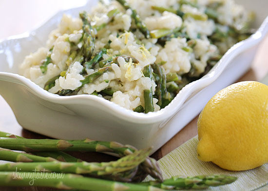 Creamy risotto, cooked with Spring asparagus, fresh herbs, Parmigiano ...