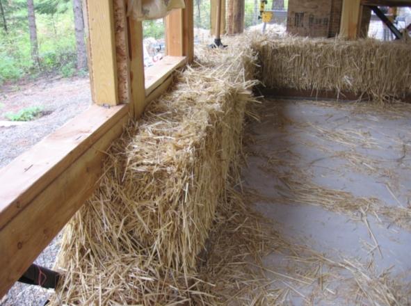 Соломенный дом и тюкование стен