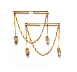 La Belle Russe Earrings in Gold with Smokey Quartz