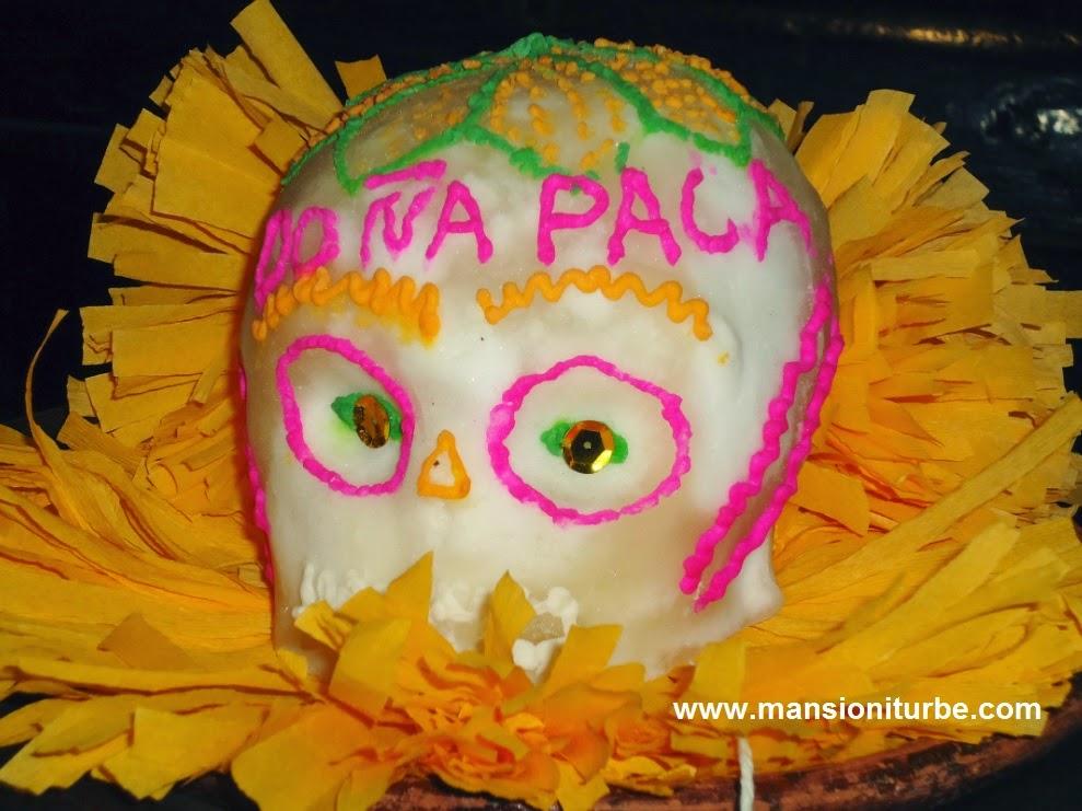 Calaverita de Azúcar en Restaurante Doña Paca en Pátzcuaro