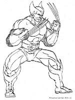 Koleksi Gambar Mewarnai Wolverine Dari Film X-Men
