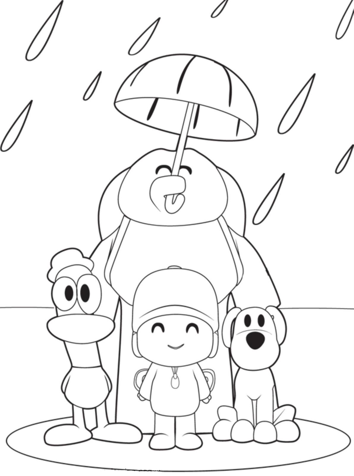 Pocoyo y amigos para colorear   Dibujos Para Colorear