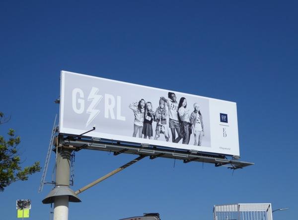 Ellen DeGeneres Gap Kids FW 2015 billboard