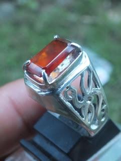 natural garnet ring perak