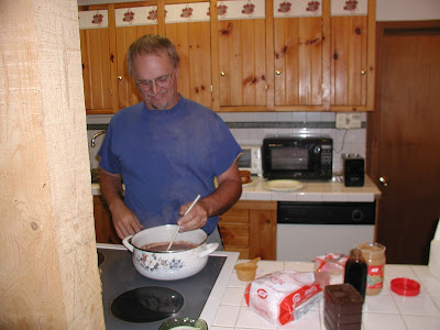 My brother Danny making candy toast
