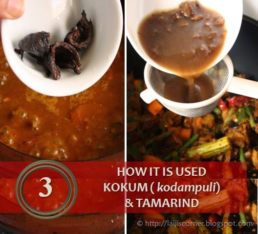 How it is used - Kokum & Tamarind