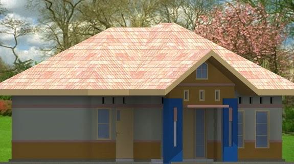 gambar  model atap rumah limasan rumah type 54