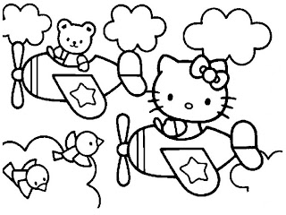 Printable Hello Kitty Kids Coloring Pages Realistic