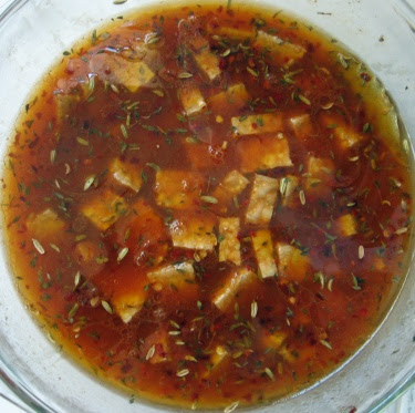 marinating tempeh