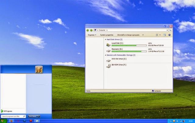 Cara Mengubah Tampilan Windows 7 Seperti Windows XP