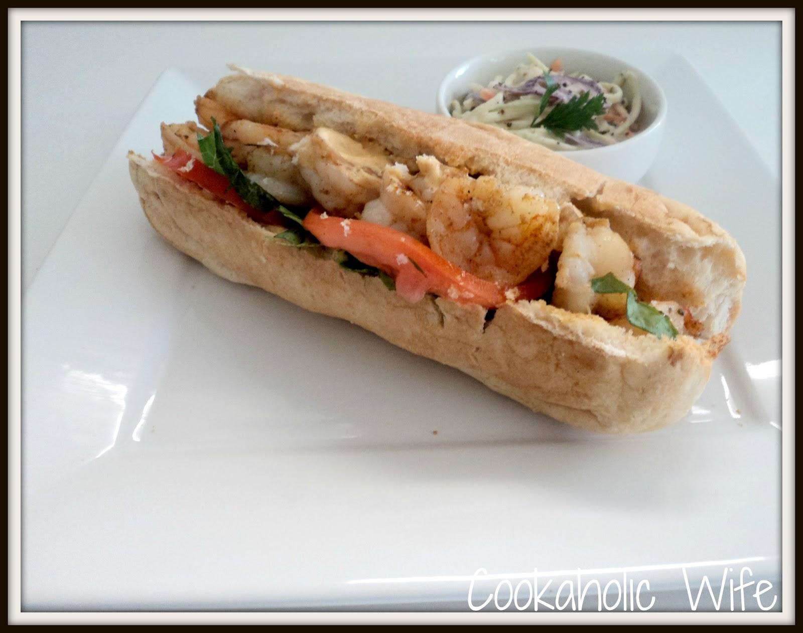 Cookaholic Wife: Recipe Swap: Shrimp Po Boy Sandwiches