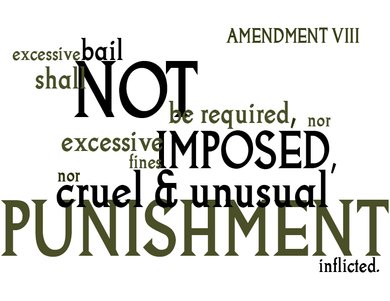 the eighth amendment and lethal injection essay In a failed 2008 constitutional challenge to lethal injection,  still tinkering  virginia that the eighth amendment prohibits executing mentally.