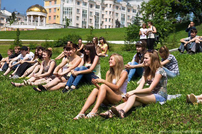Зрители на конкурсе современной хореографии Gold Fox. День города в Саранске