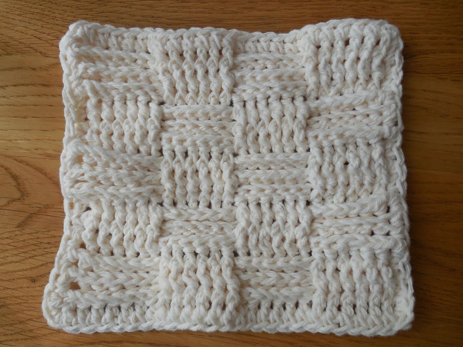 Knitting Pattern Basket Weave Dishcloth : Hooked On Handmade: Basket Weave Dishcloth