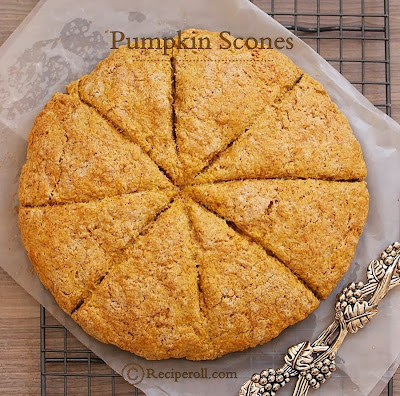pumpkin scones with pumpkin puree | pumpkin desserts