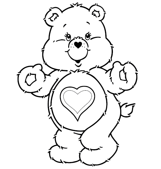 littlecare bear coloring pages - photo#5