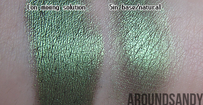 Dazzle dust 14 khaki barry m swatches green verde pigmento review opinión donde comprar