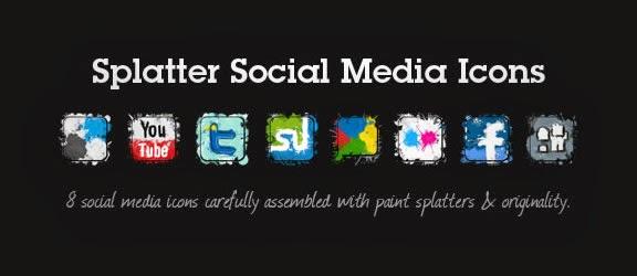 Splatter Social Media Icon Set