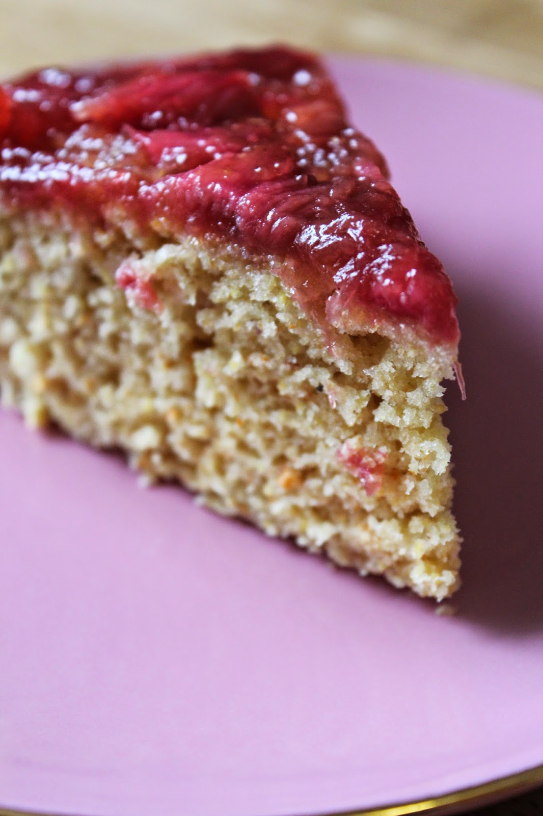 Wake and Bake this Easter: Rhubarb Upside Down Cornbread