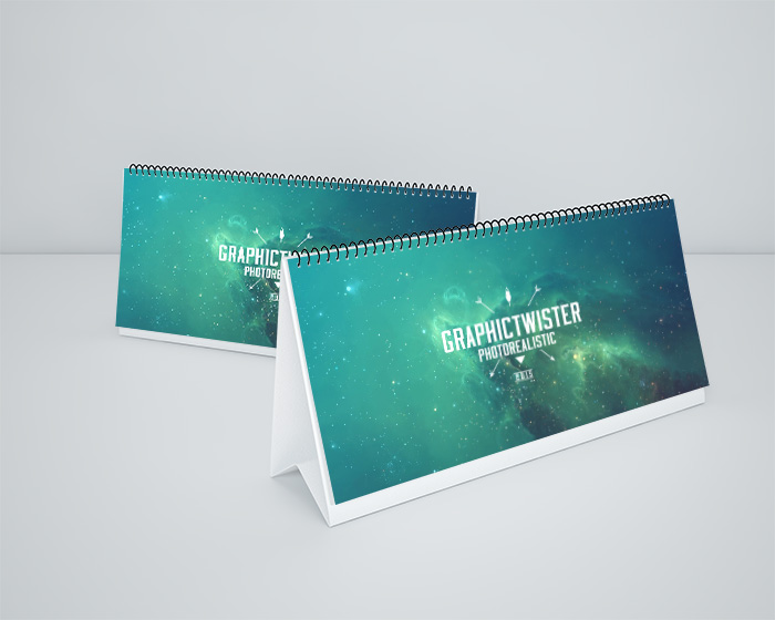 Download Mockup Kalender PSD Terbaru Gratis - Double Small Desk Calendar MockUp v2