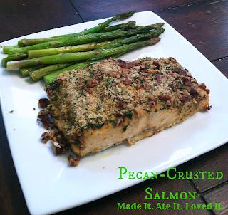 Salmon Bake with Pecan Crunch Coating