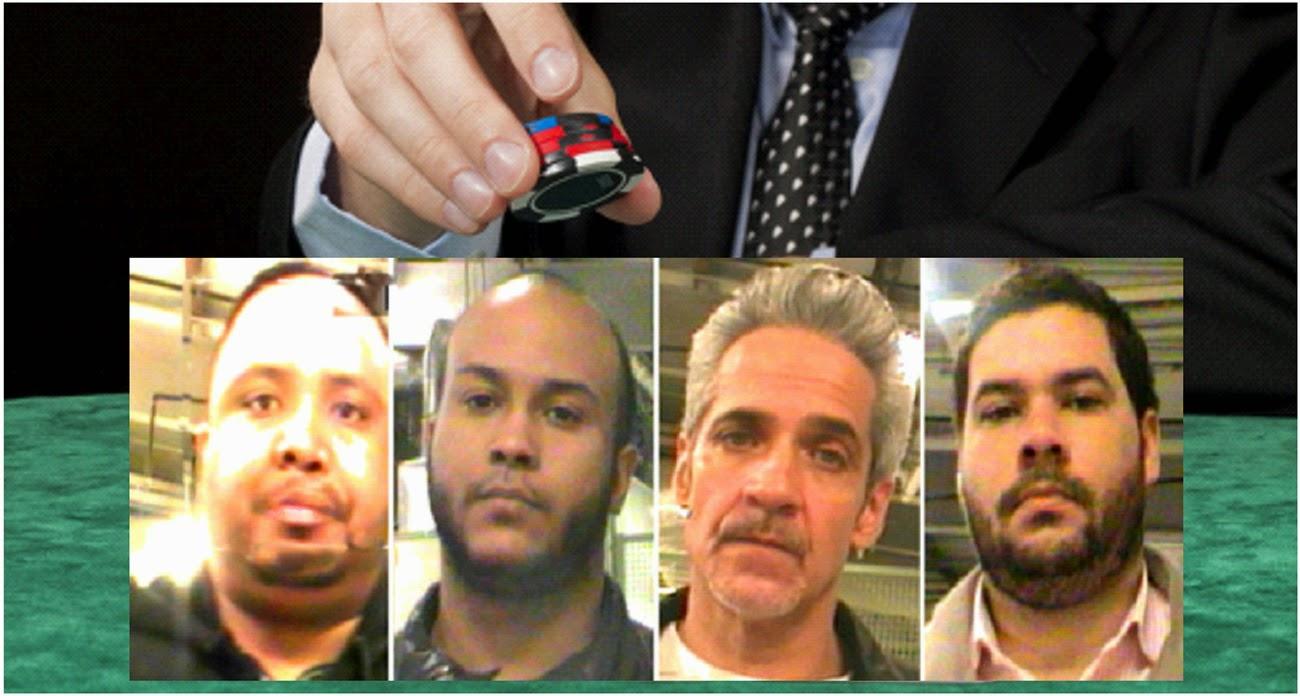 Asi andan algunos dominicanos en EEUU:Cuatro dominicanos arrestados en New Orleans por hacer trampas a un casino Harra