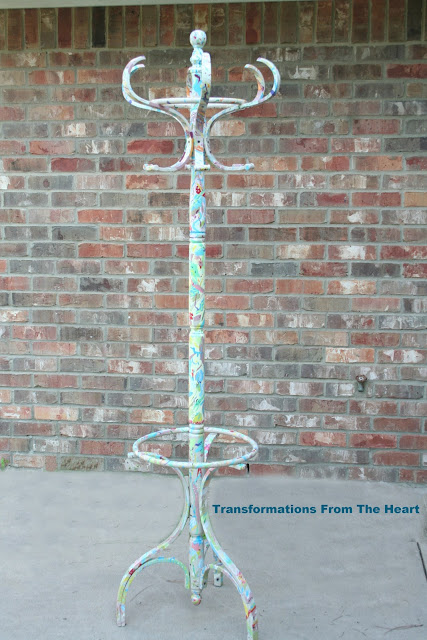 Anthropologie Inspired Splashed Coat Rack