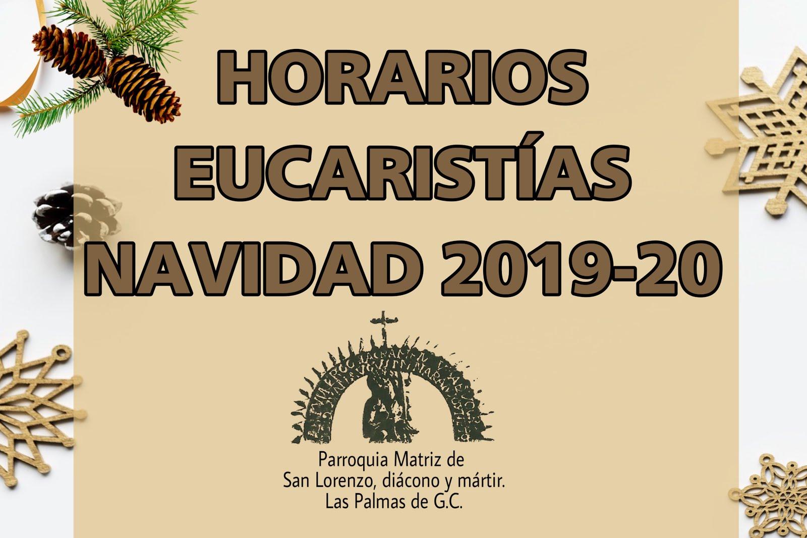 Eucaristías Navidad 2019-20