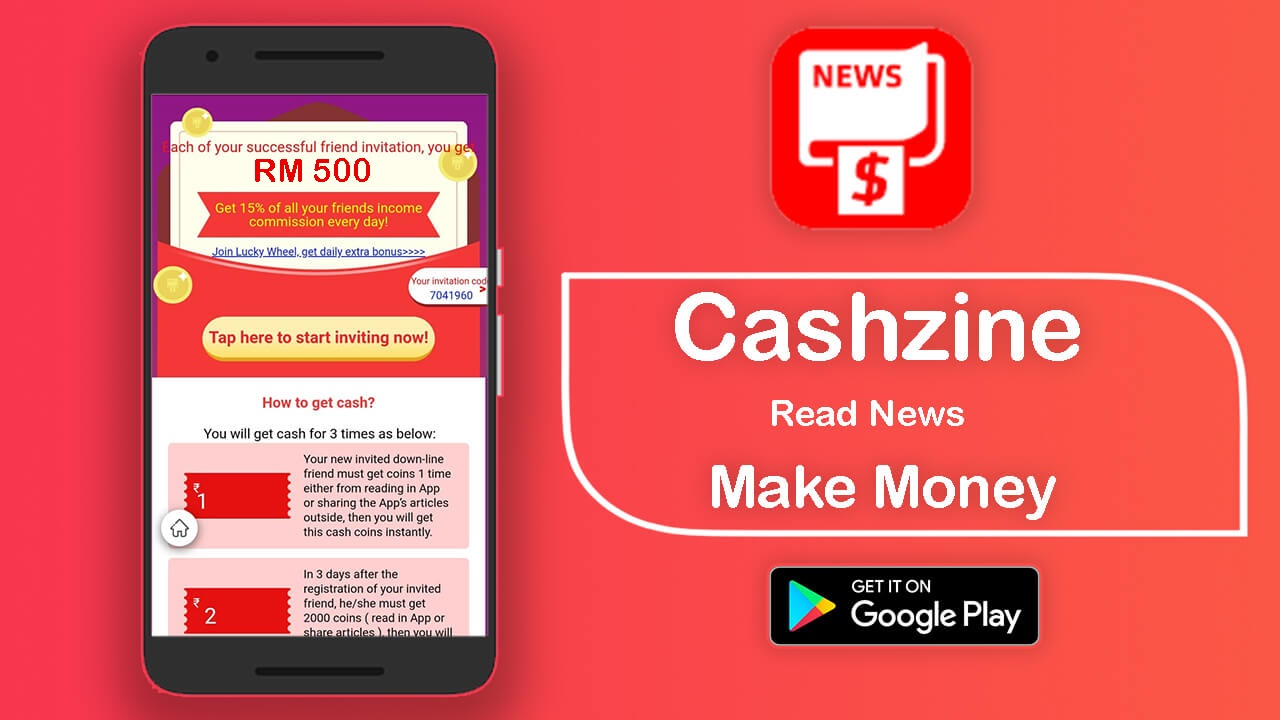 My friend recommended me a money-making app, Cashzine
