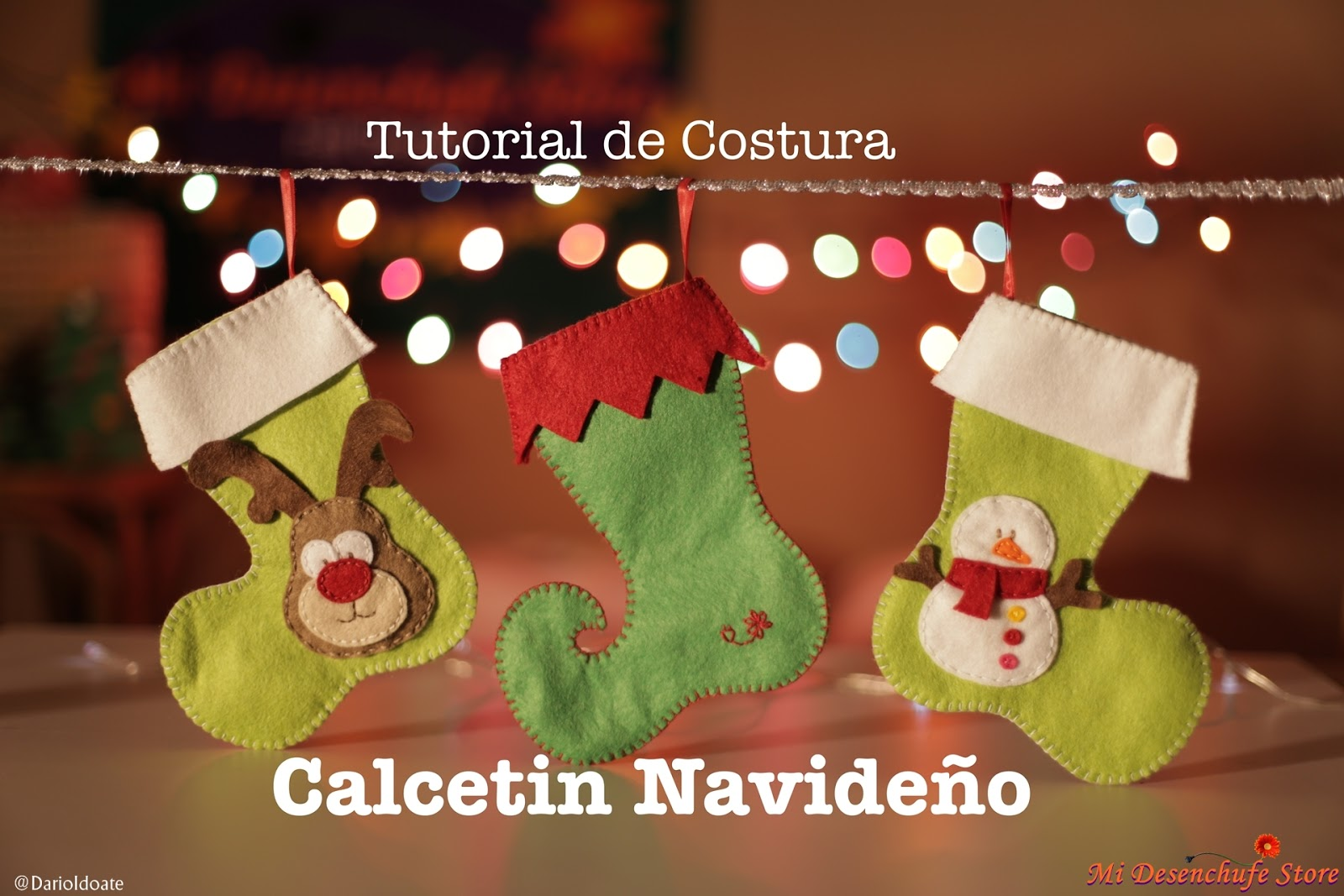 Mi Desenchufe Store: Calcetin Navideño - Videotutorial y Patrón Gratis
