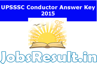 UPSSSC Conductor Answer Key 2015