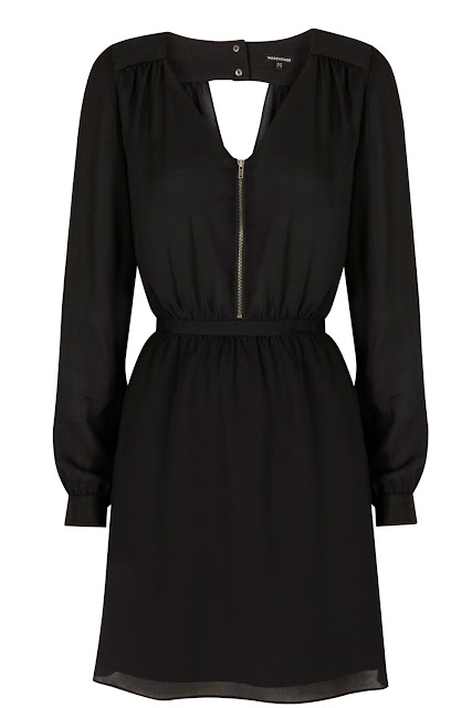 warehouse zip dress