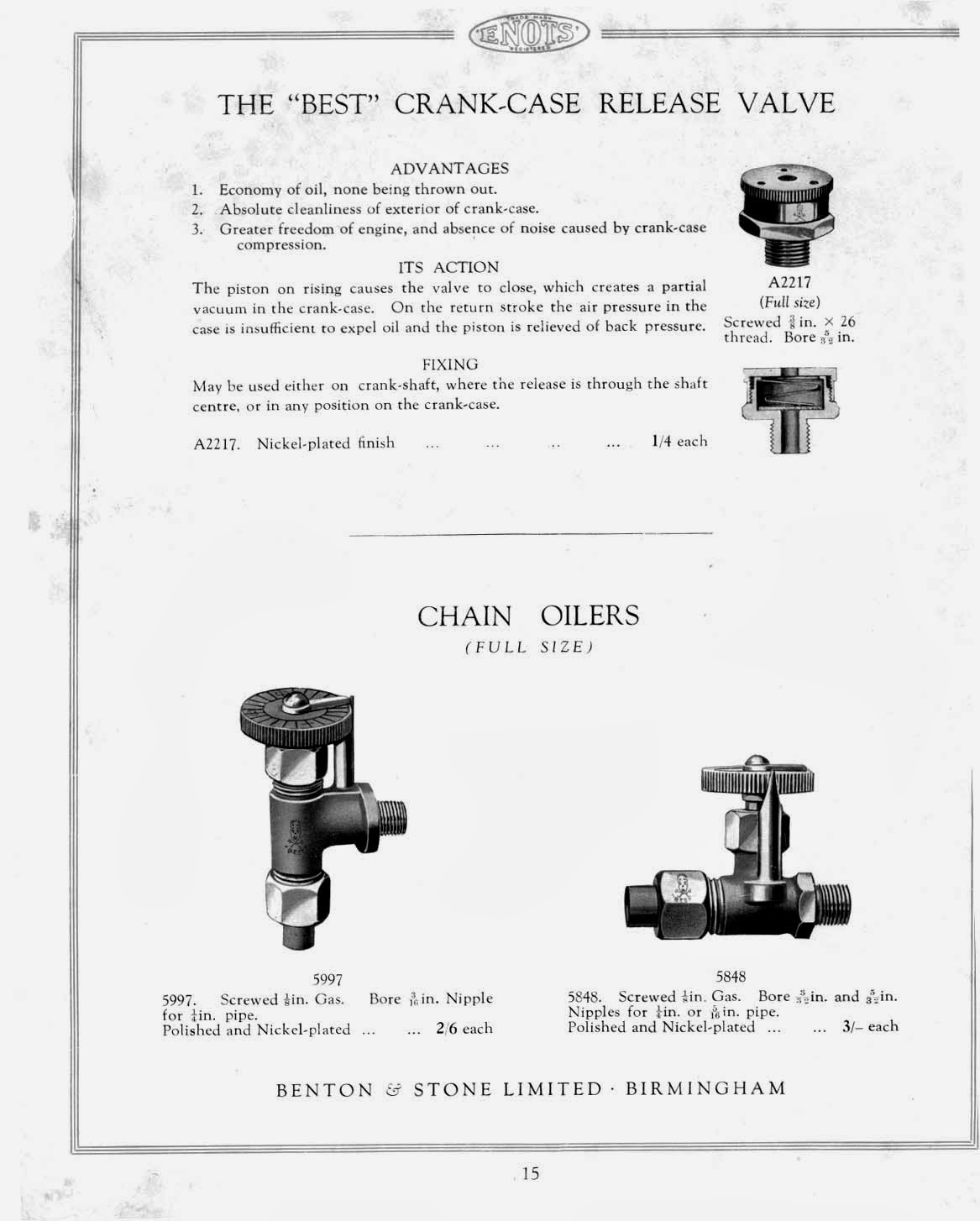 Iu0027ve two other pages from another Enots catalogue but thatu0027s all...could be also prewar or immediately postwar.  sc 1 st  The Velobanjogent & The Velobanjogent: A look at a 1938 Enots Benton u0026 Stone Ltd ...