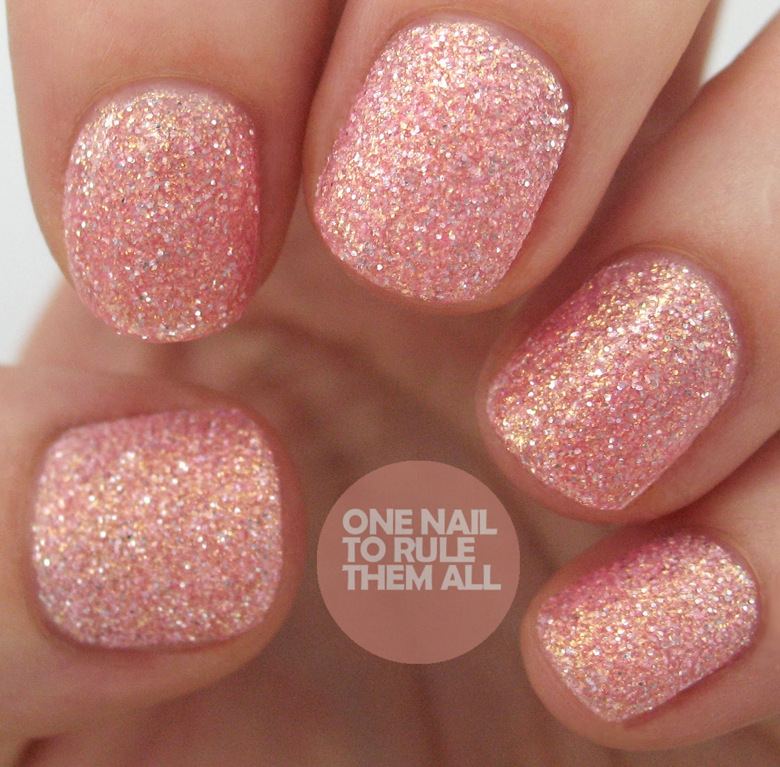 Pink And Blue Glitter Nail Polish: One Nail To Rule Them All: Barry M Autumn/Winter 2013