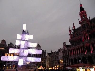 Grand Place Navidad Bruselas