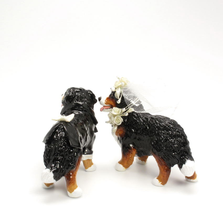 Bernese Mountain Dog Wedding Cake Topper