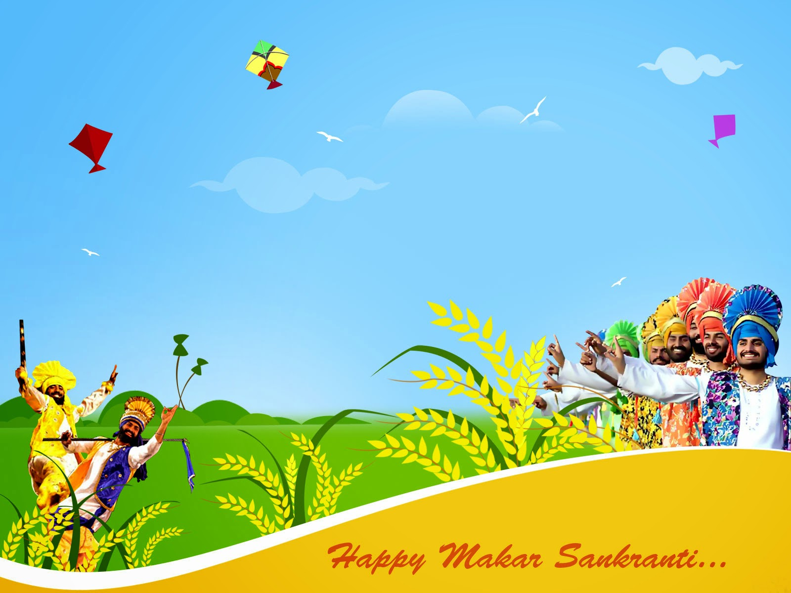 Happy Makar Sankranti 2015 HD Images / Wallpapers