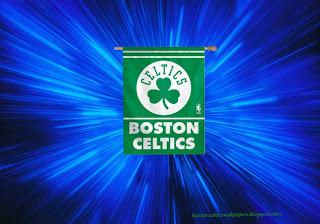 Boston Celtics desktop Wallpapers Celtics Logo Flag in Vortex Space wallpaper