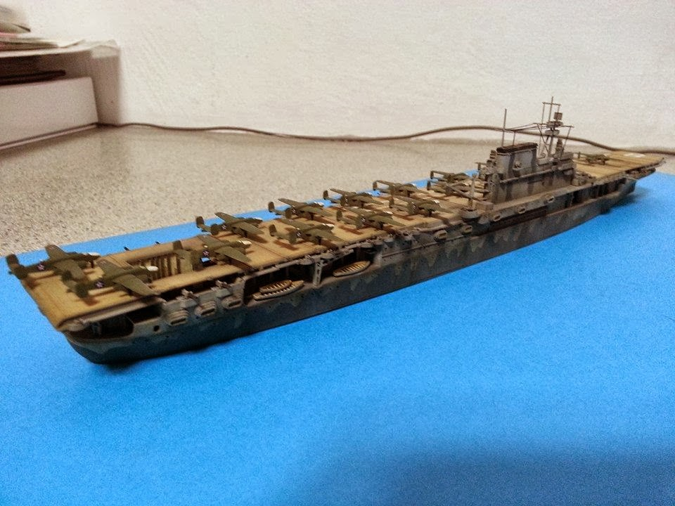 kitter u0026 39 s scale models  tamiya 1  700 uss hornet cv