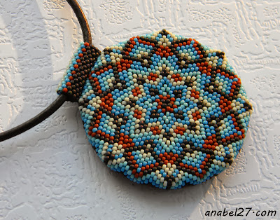 кулон мандала украина бисерный круглый кулон анабель