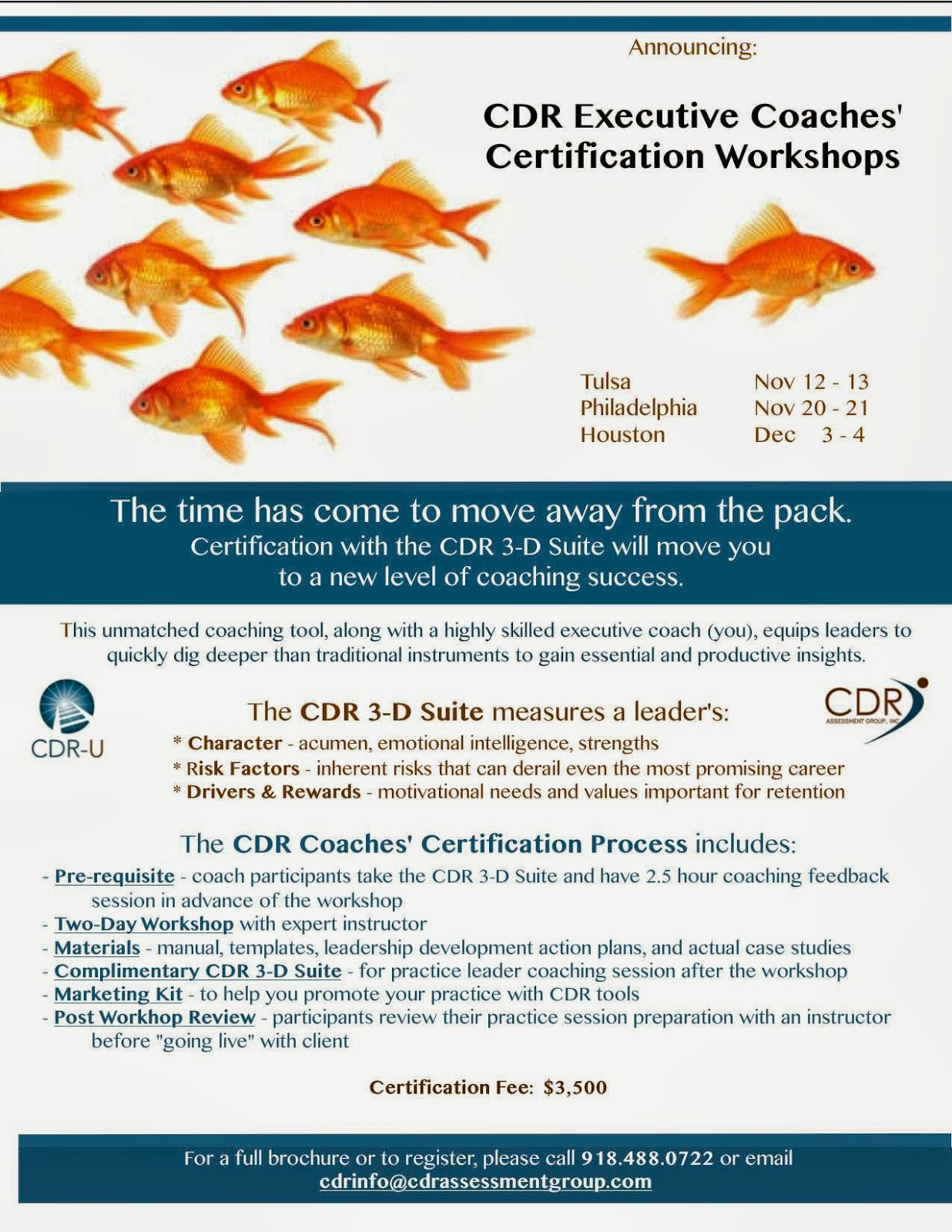 2013 CDR Coaches' Certification Workshop Dates - Philadelphia ...
