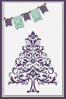 Digital Christmas Card by UK Stampin' Up! Demonstrator Bekka Prideaux