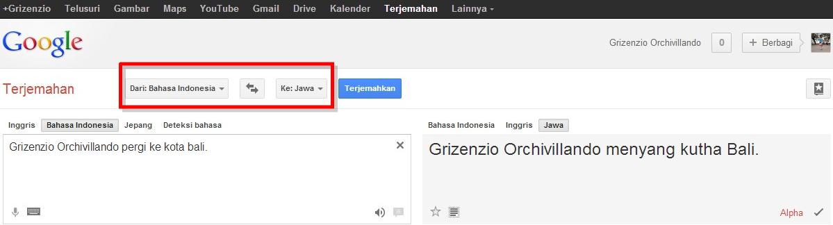 "mencari bahasa jawa dari "" Apa kabar ? "" dan google translate"