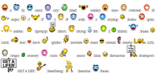 Emoticones para FaceBook como hacer - Imagui