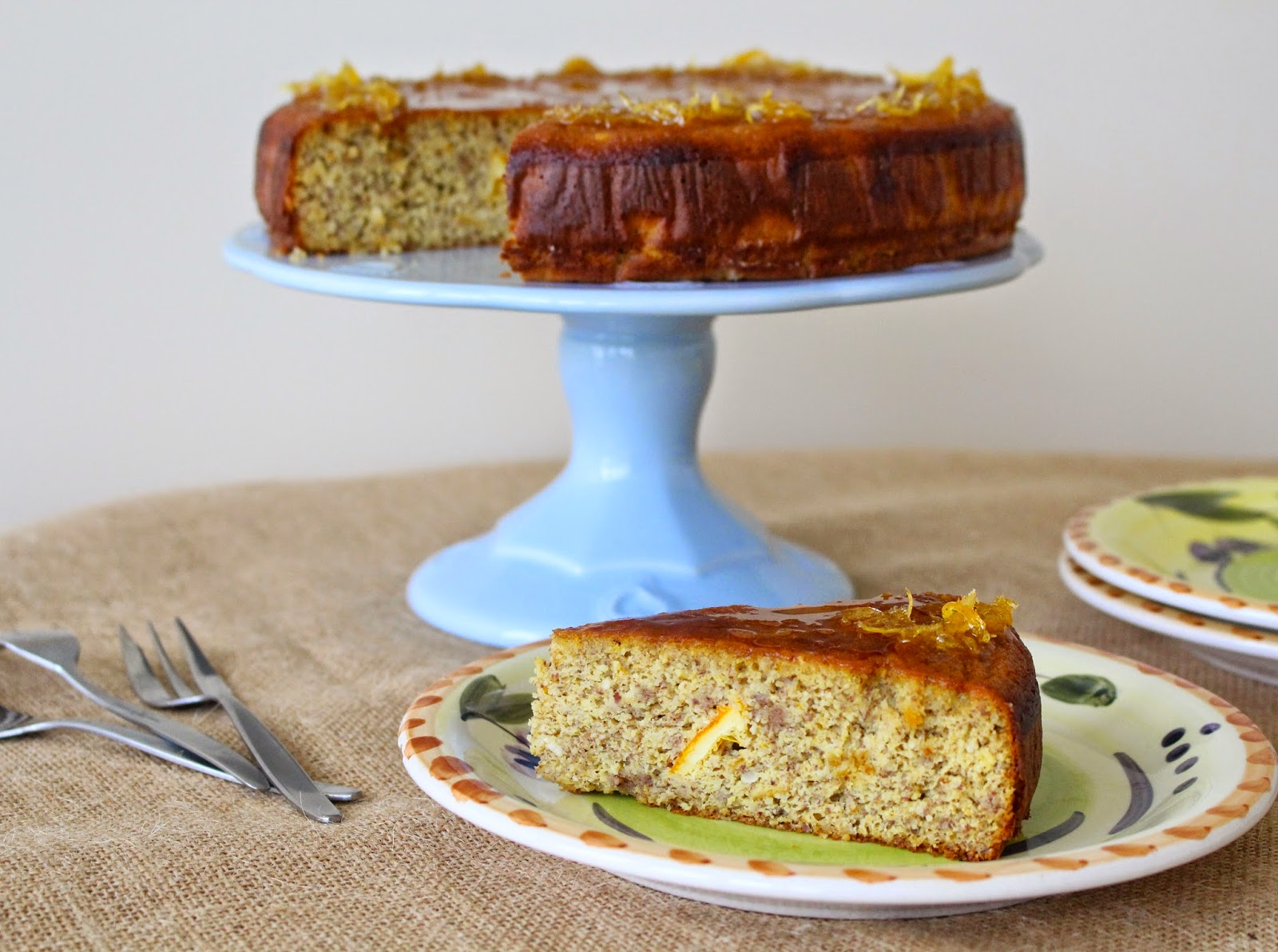 ... orange gives this cake a wonderful fresh flavor and keeps the cake