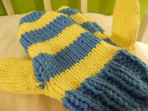 Knitting Mittens With Straight Needles : How to knit a hat with straight needles