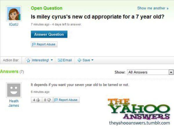 Yahoo respostas em inglês