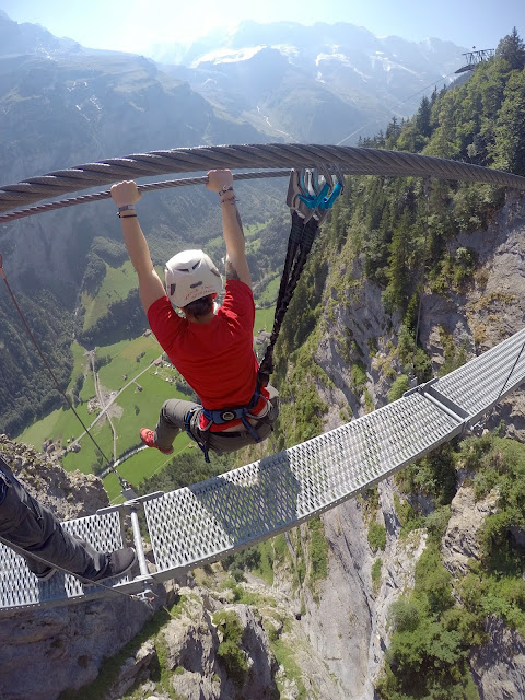 Interlaken, Switzerland, Eiger, Jungfrau, Monch, Canyoning, Paragliding, Via Ferrata, White Water Rafting, Brienz, Thun, Mountains, Alps, bern, Bernese Alps, Swiss Alps, adventure, Chli Schliere, adrenaline, lutschine, Lauterbrunnen, Schilthorn, Harder Kulm, Murren, Trummelbach Falls,